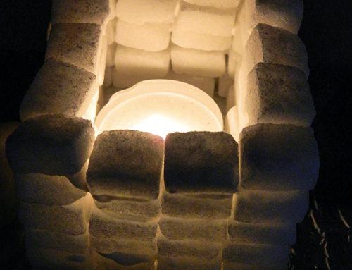 Kynttilälyhdyn voi tehdä sokeripaloista